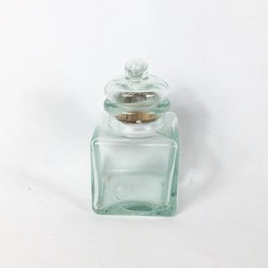 Small glass cork  jar container